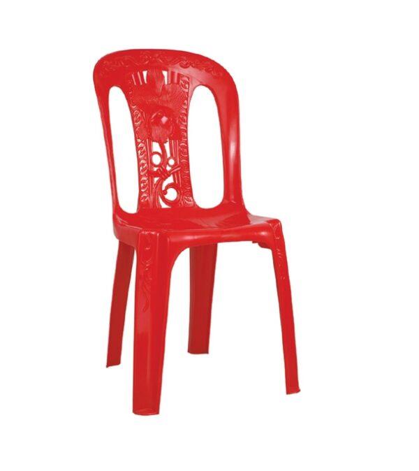 slim chair stick flower red