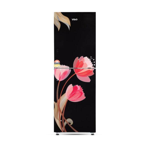 GD Refrigerator RE-185L Pink Tulip Black-BM
