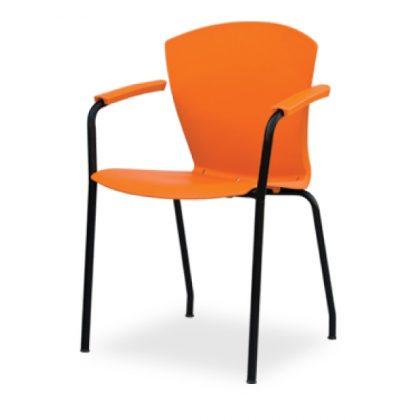 Elegant Metal Chair Orange