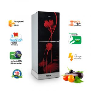 VISION-GD-Refrigerator-RE-238L-Red-Water-Lily-B